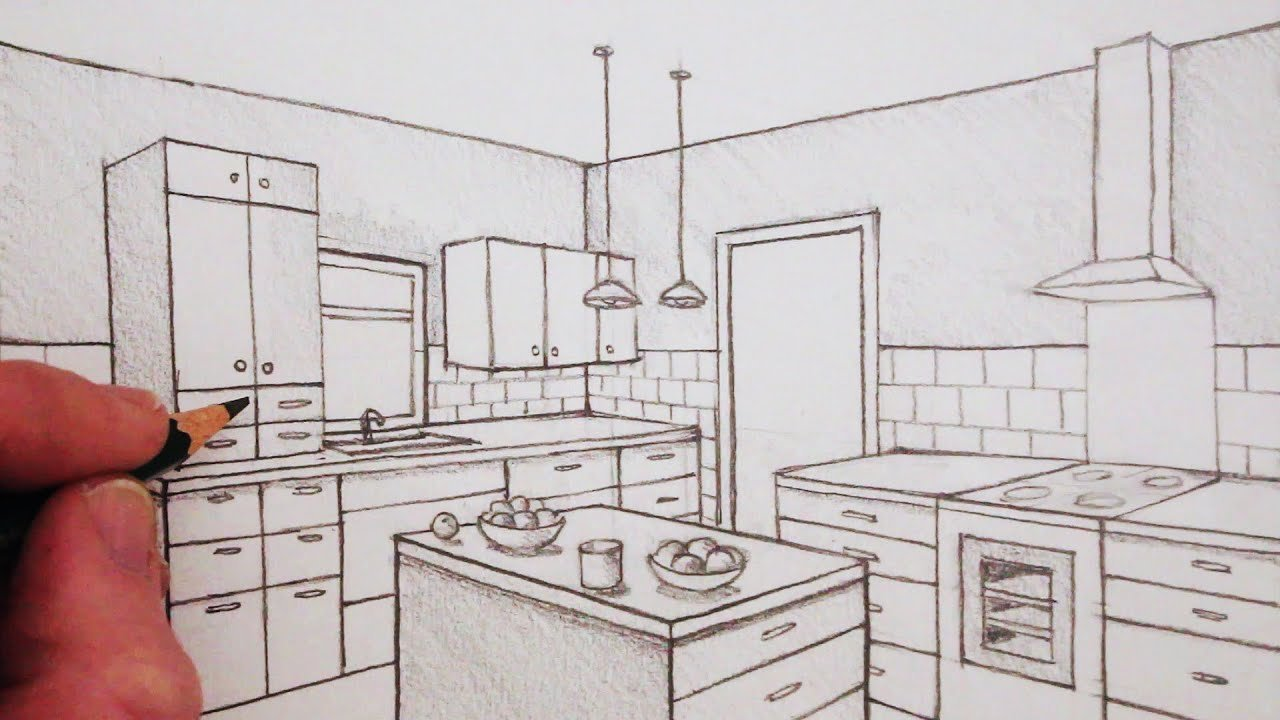 Best How To Draw A Room In Two Point Perspective Time Lapse With Pictures