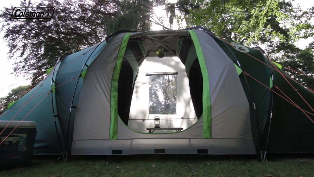 Best Coleman® Blackout Bedroom Spruce Falls 4 Camping Tent En With Pictures