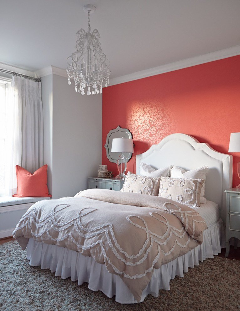 Best Amazing Coral Bedroom Color Schemes Decorating Ideas With Pictures