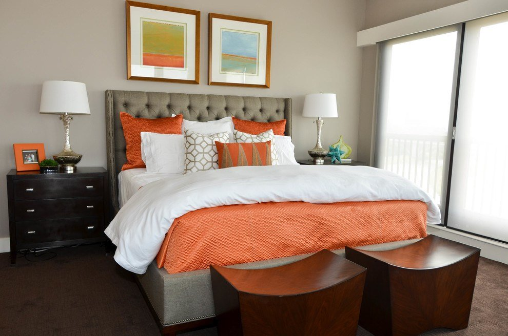 Best Extraordinary Coral And Brown Bedding Decorating Ideas With Pictures