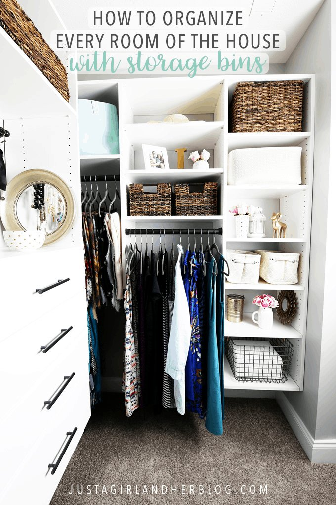 Best How To Organize Every Room Of The House With Storage Bins Just A Girl And Her Blog With Pictures