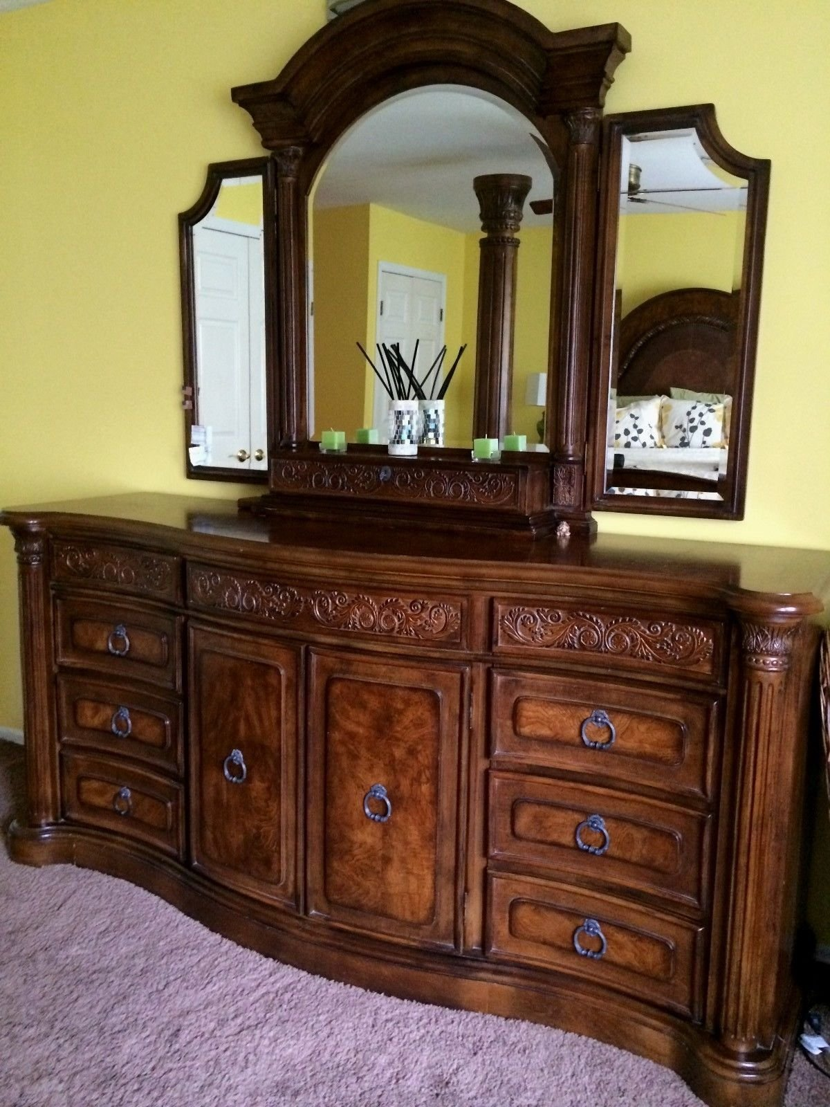 Best Collezione Europa Bedroom Set Kj Moves You Storage With Pictures