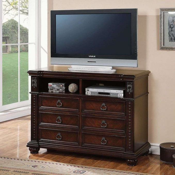 Best Buy Daruka Tv Console With 6 Drawers And Component Storage With Pictures