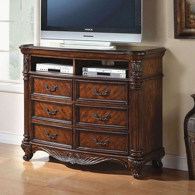 Best Buy Remington Traditional 6 Drawer Tv Console In Los Angeles With Pictures