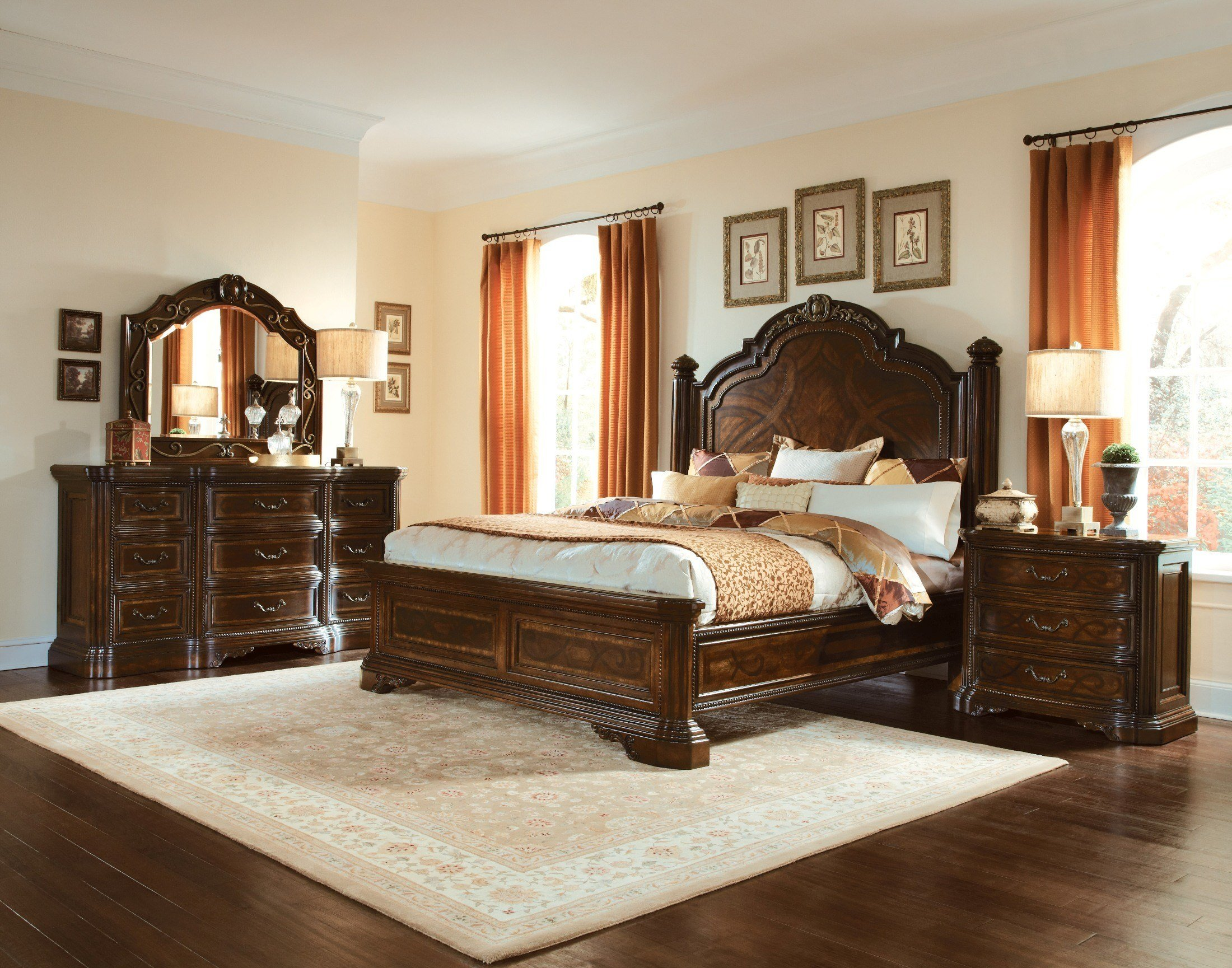 Best Valencia Panel Bedroom Set From Art 209125 2304 With Pictures