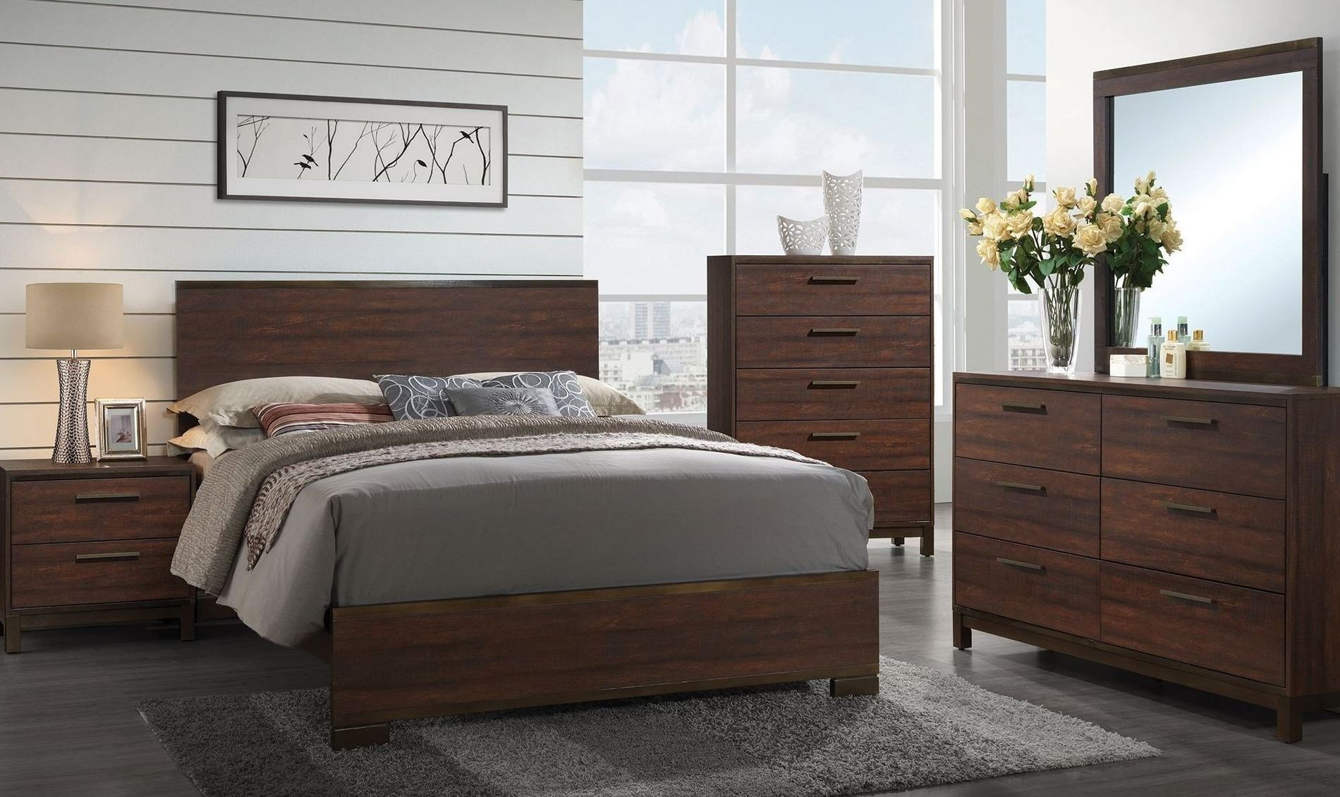 Best Edmonton Rustic Tobacco Platform Bedroom Set From Coaster Coleman Furniture With Pictures