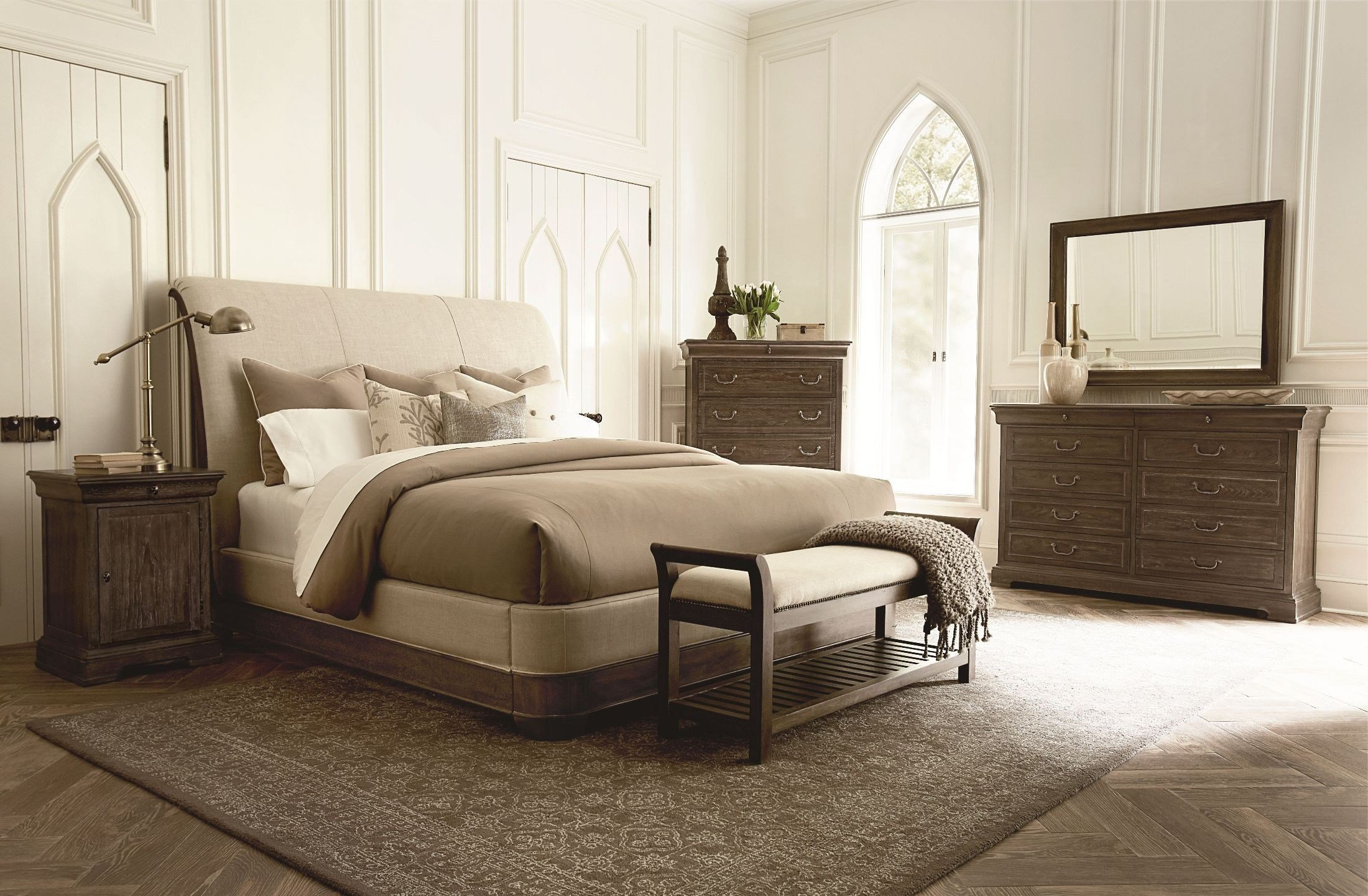 Best St Germain Upholstered Sleigh Bedroom Set From Art With Pictures