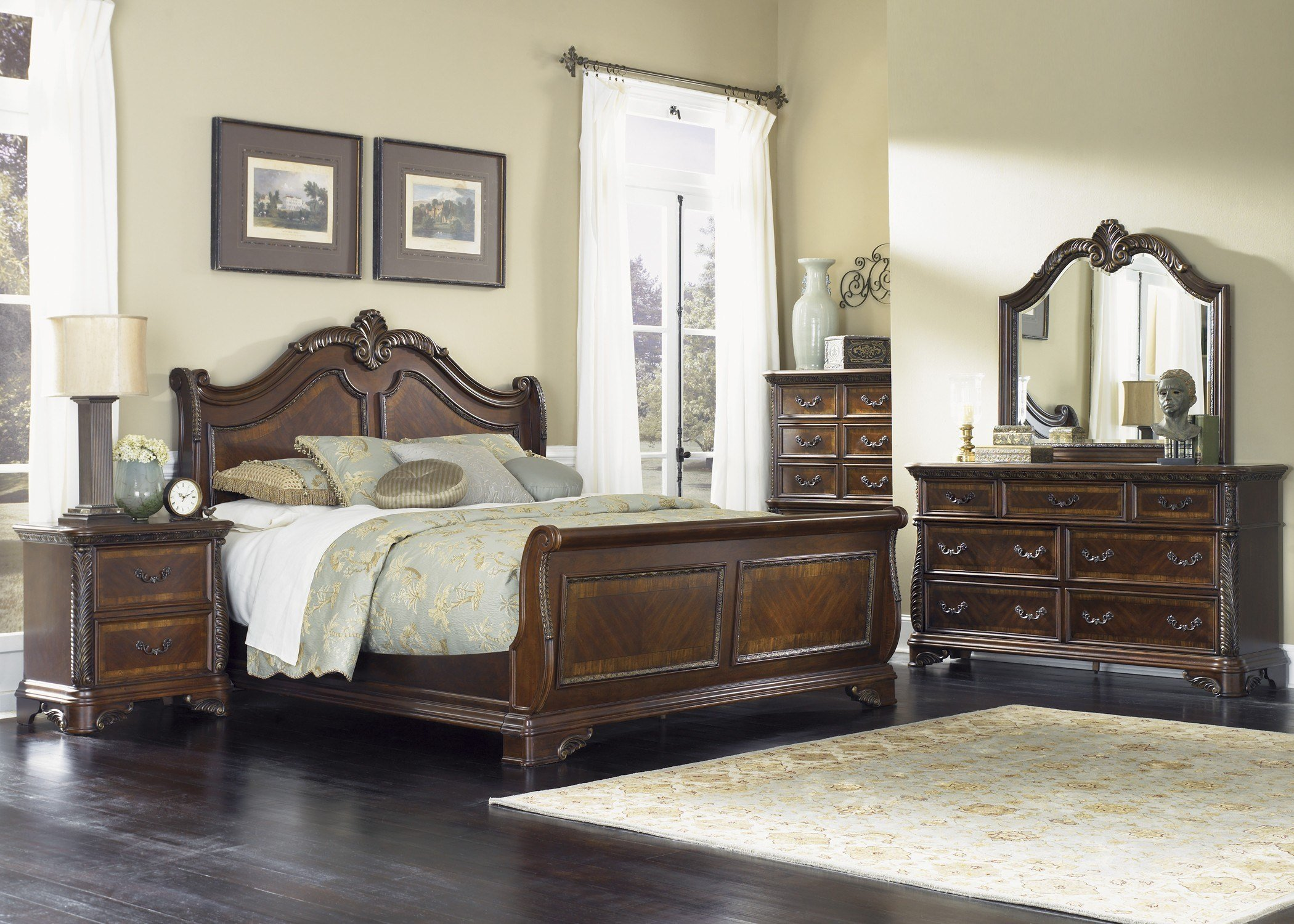 Best Highland Court Sleigh Bedroom Set From Liberty 620 Br Qsl With Pictures