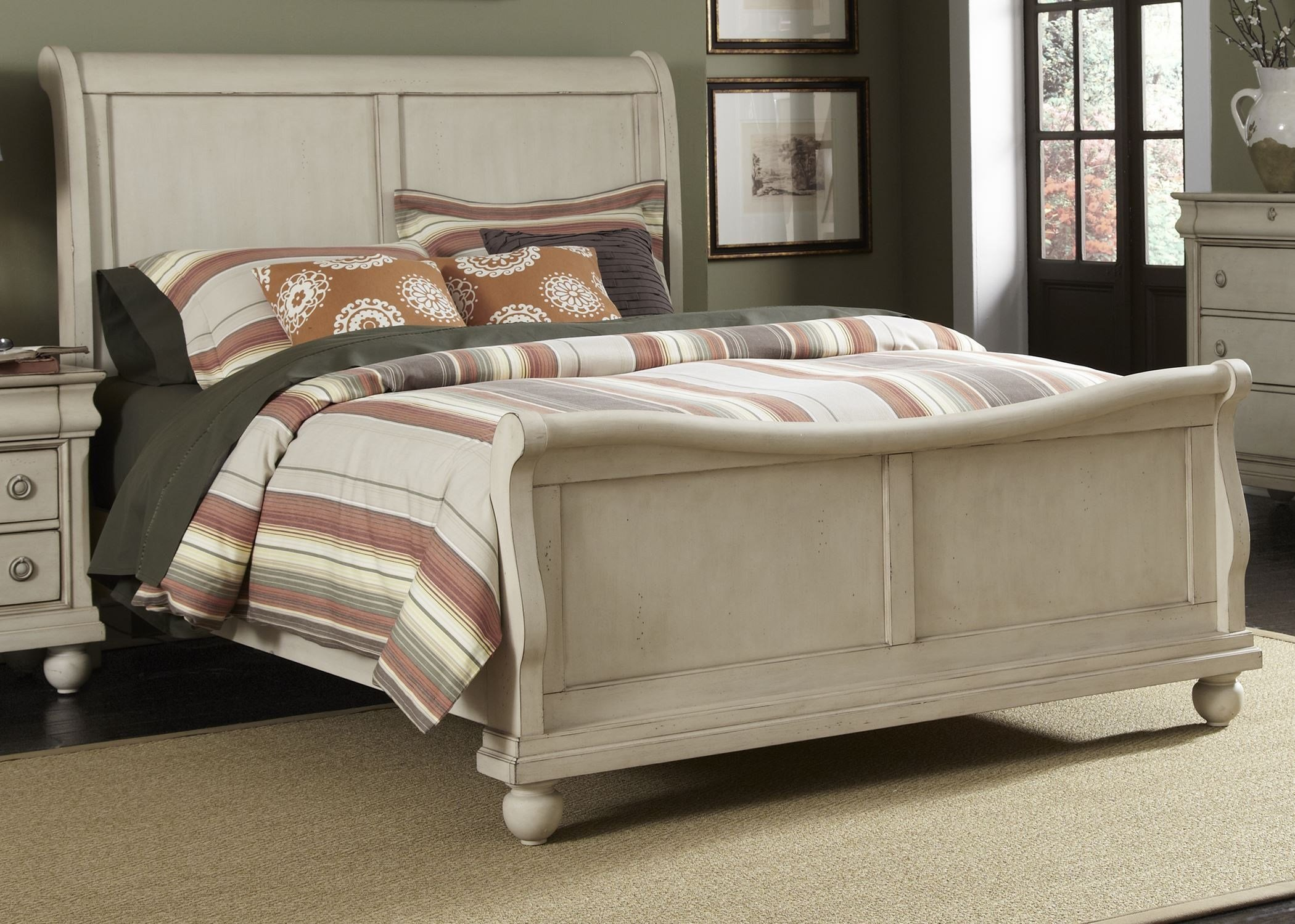 Best Rustic Traditions Ii Sleigh Bedroom Set From Liberty 689 With Pictures