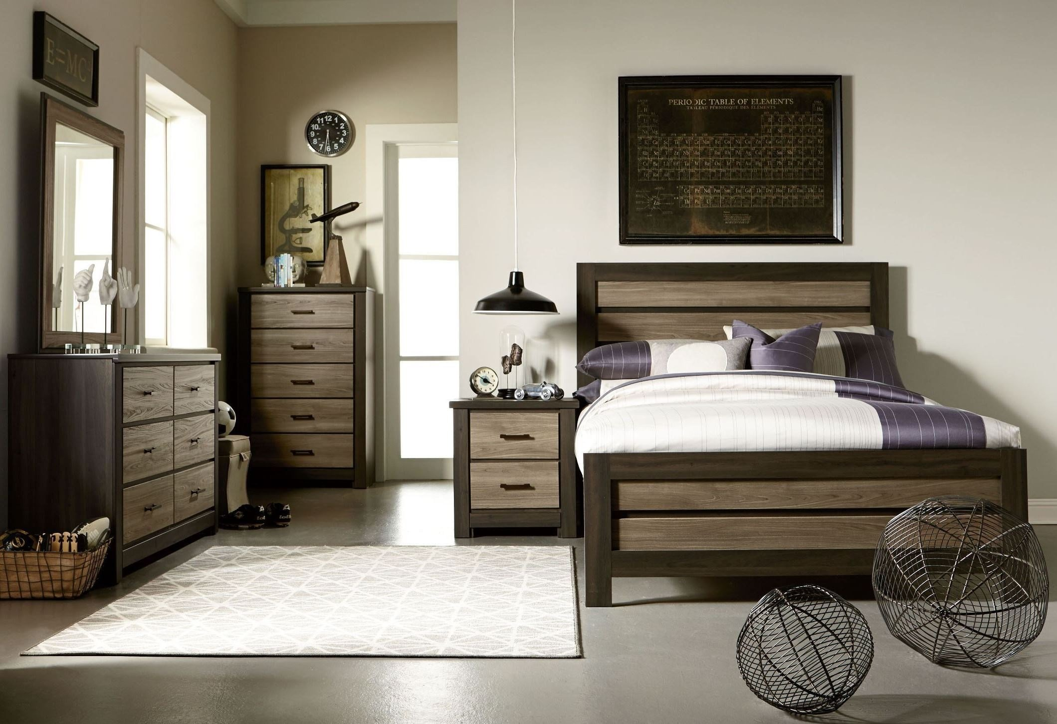 Best Fremont Dark And Smoky Weathered Oak Panel Bedroom Set With Pictures