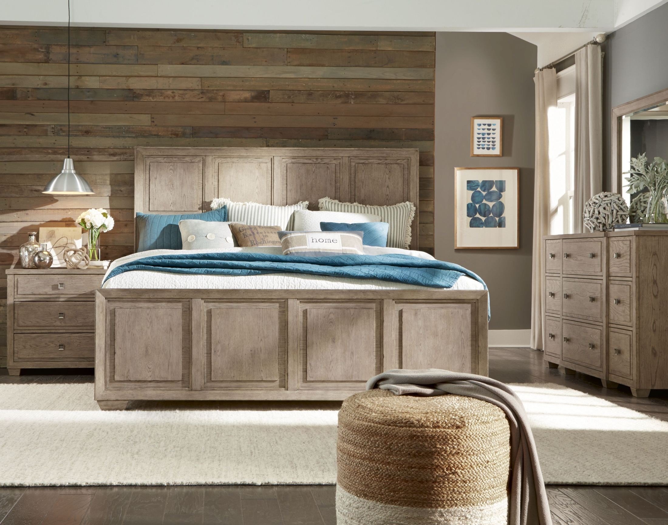 Best Bridgewater Weathered Oak Panel Bedroom Set From Legacy With Pictures