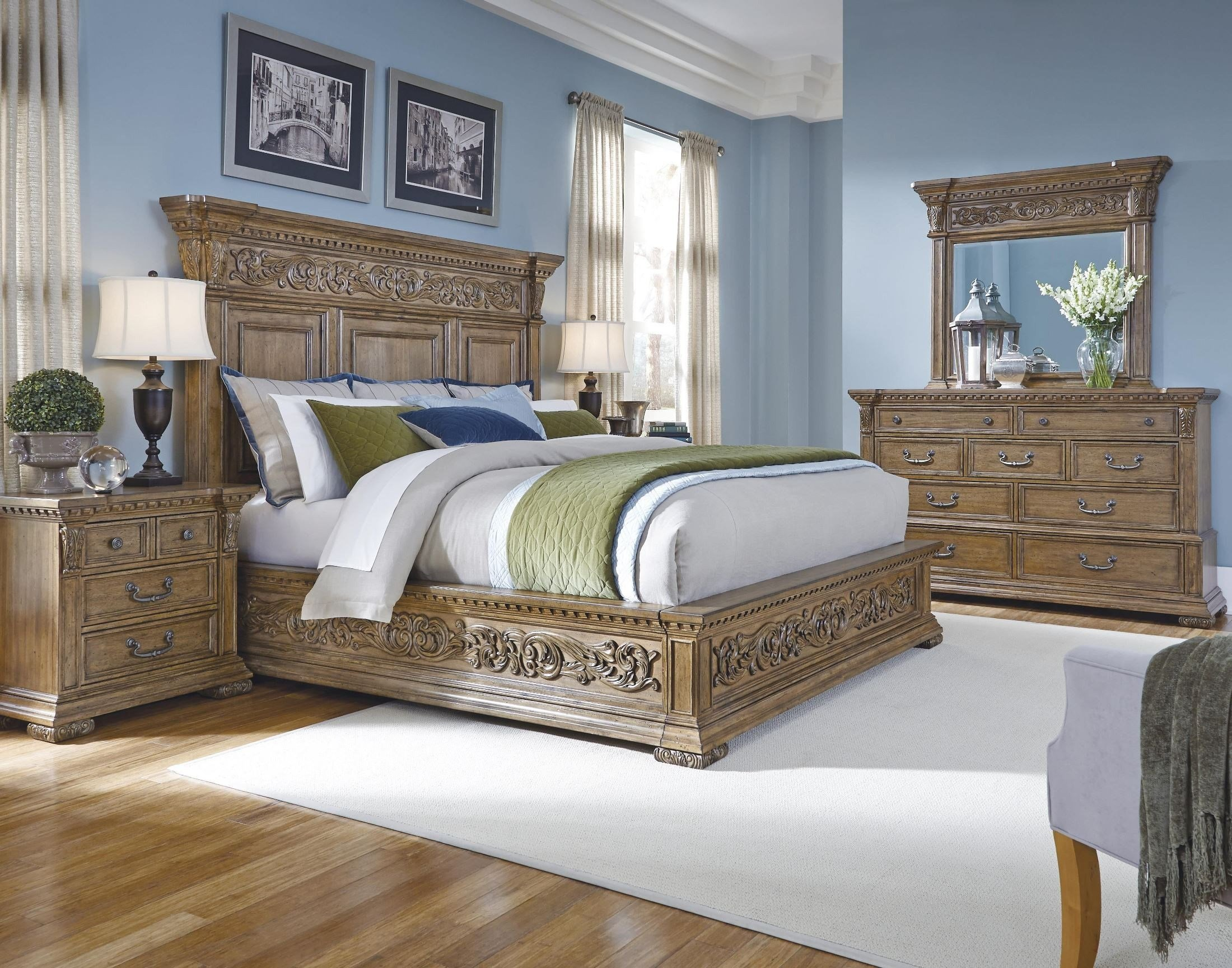 Best Stratton Medium Wood Stratton Platform Bedroom Set From With Pictures