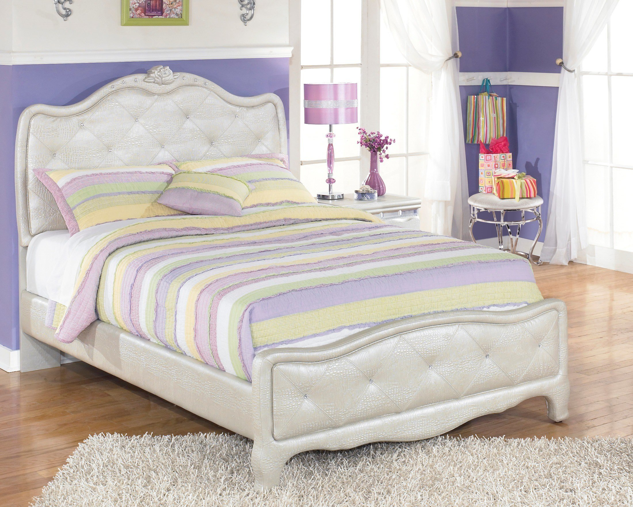 Best Zarollina Full Upholstered Panel Bed From Ashley B182 77 With Pictures