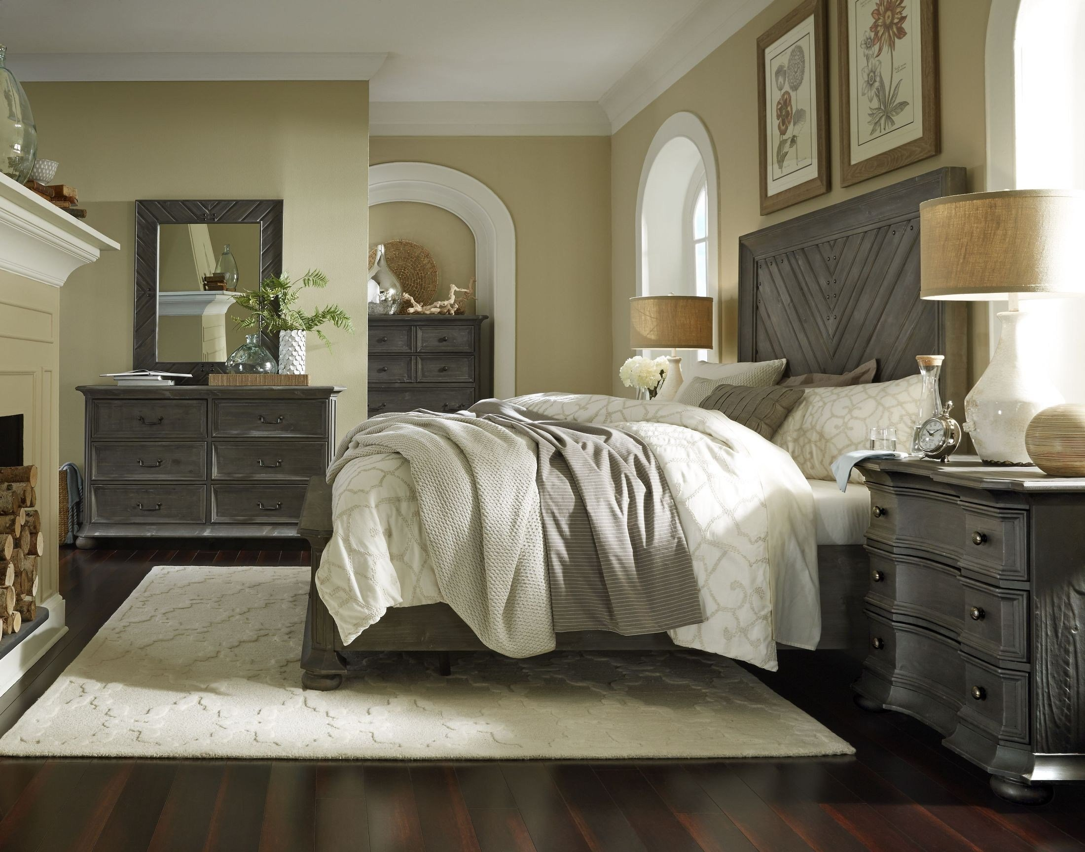 Best Cheswick Washed Linen Grey Panel Storage Bedroom Set From Magnussen Home Coleman Furniture With Pictures