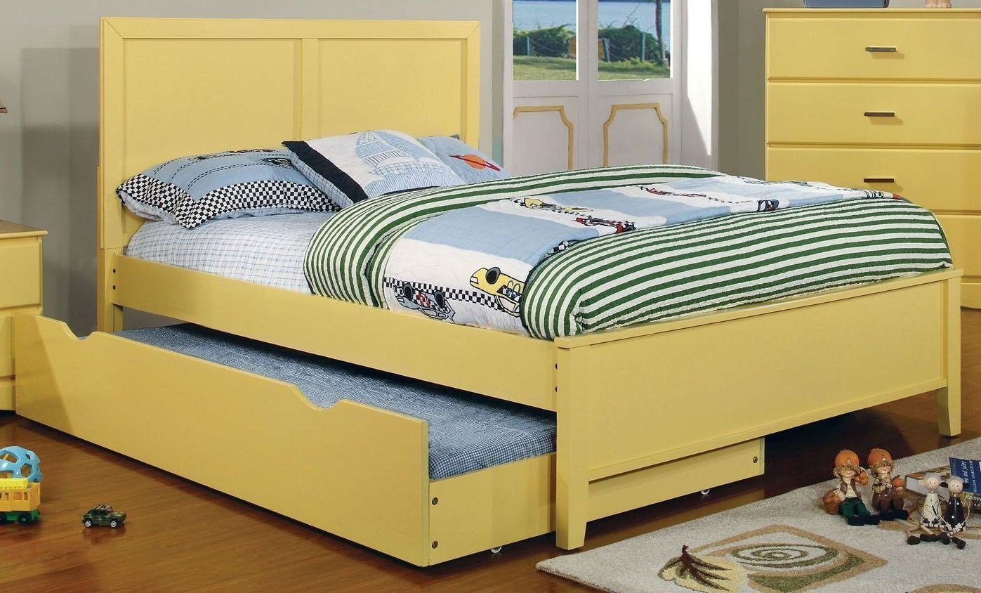 Best Prismo Yellow Youth Platform Bedroom Set From Furniture Of America Cm7941Yw T Bed Coleman With Pictures
