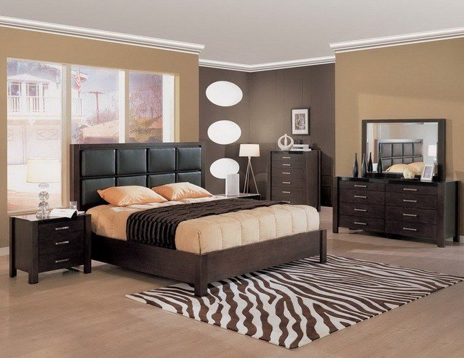 Best Soft Brown Bedroom Colors With Black Furniture Decolover Net With Pictures