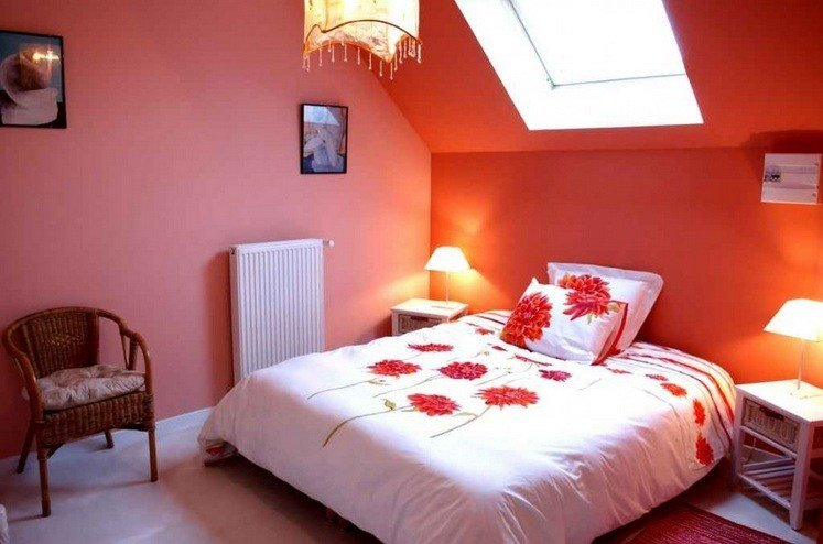 Best Decorating Ideas For Small Bedrooms With Orange Wall Color With Pictures