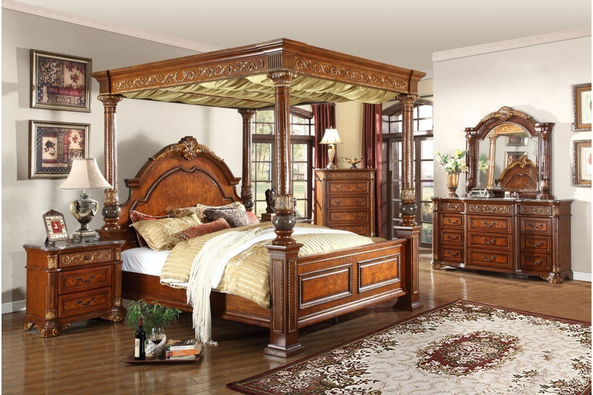 Best Bedroom Sets Royal Post King Size Bedroom Set With Pictures