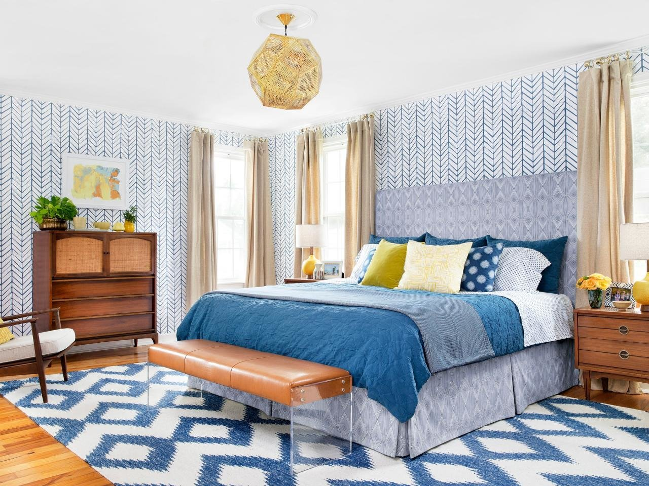 Best From Bland To Bold Before And After Bedroom Makeover Hgtv With Pictures