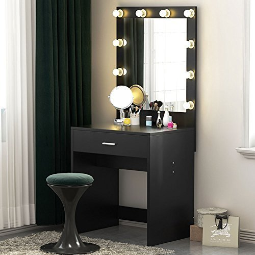 Best Tribesigns Vanity Set With Lighted Mirror Makeup Dressing With Pictures