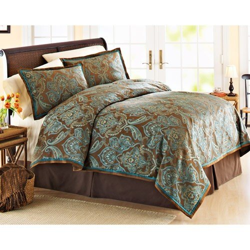 Best Teal And Brown Bedding Product Selections Homesfeed With Pictures