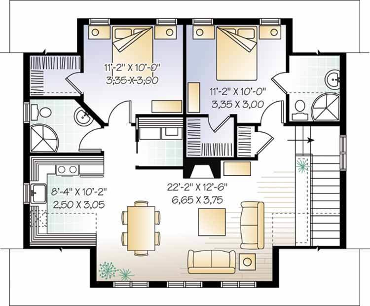 Best Garage Apartment Plans With 2 Bedrooms Cottage House Plans With Pictures