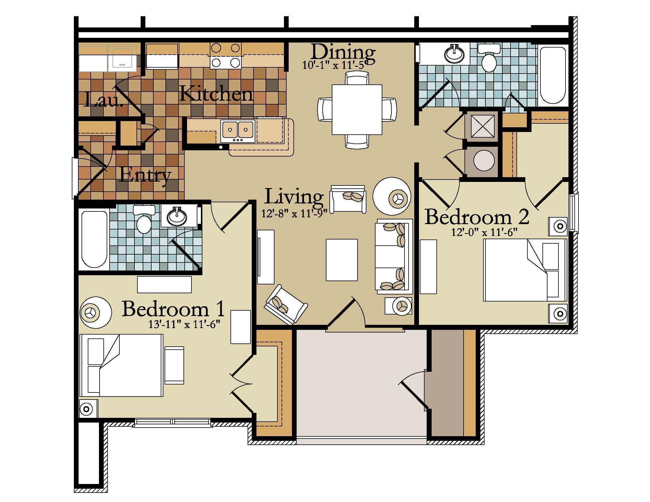 Best Small Three Bedroom House Plan Unique Bedroom Apartments With Pictures