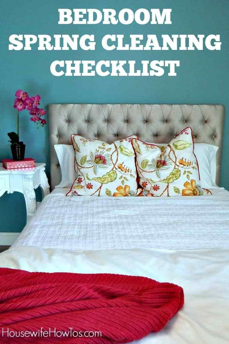Best Bedroom Spring Cleaning Checklist Free Printable With Pictures