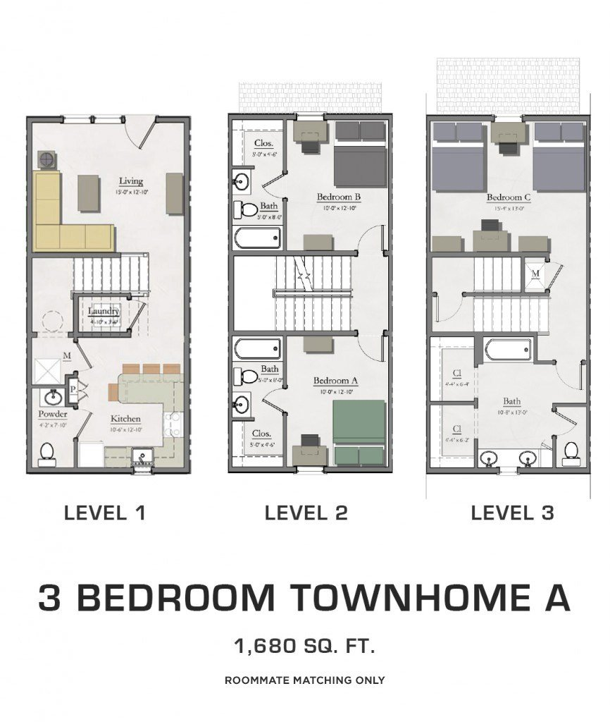 Best Student Housing In East Lansing Floor Plans For Msu Students With Pictures