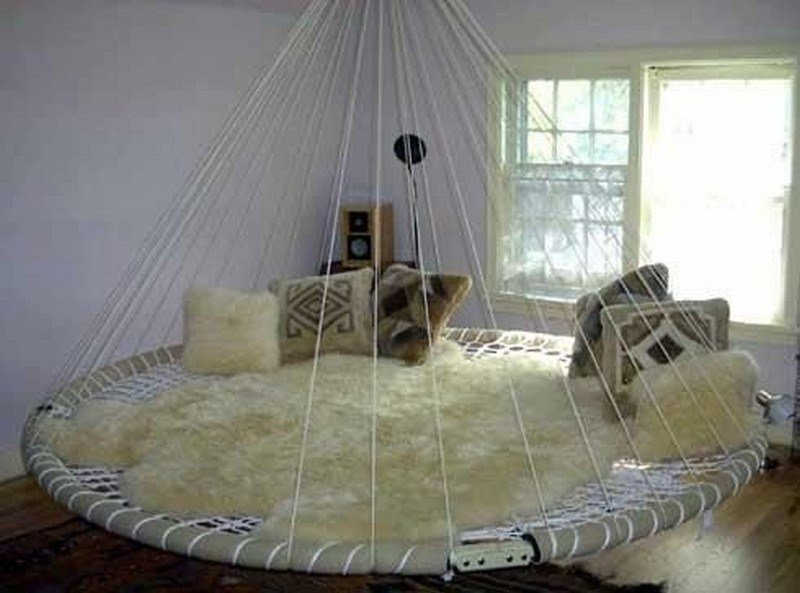 Best Swing Bed Made From Recycled Trampoline – The Owner Builder Network With Pictures