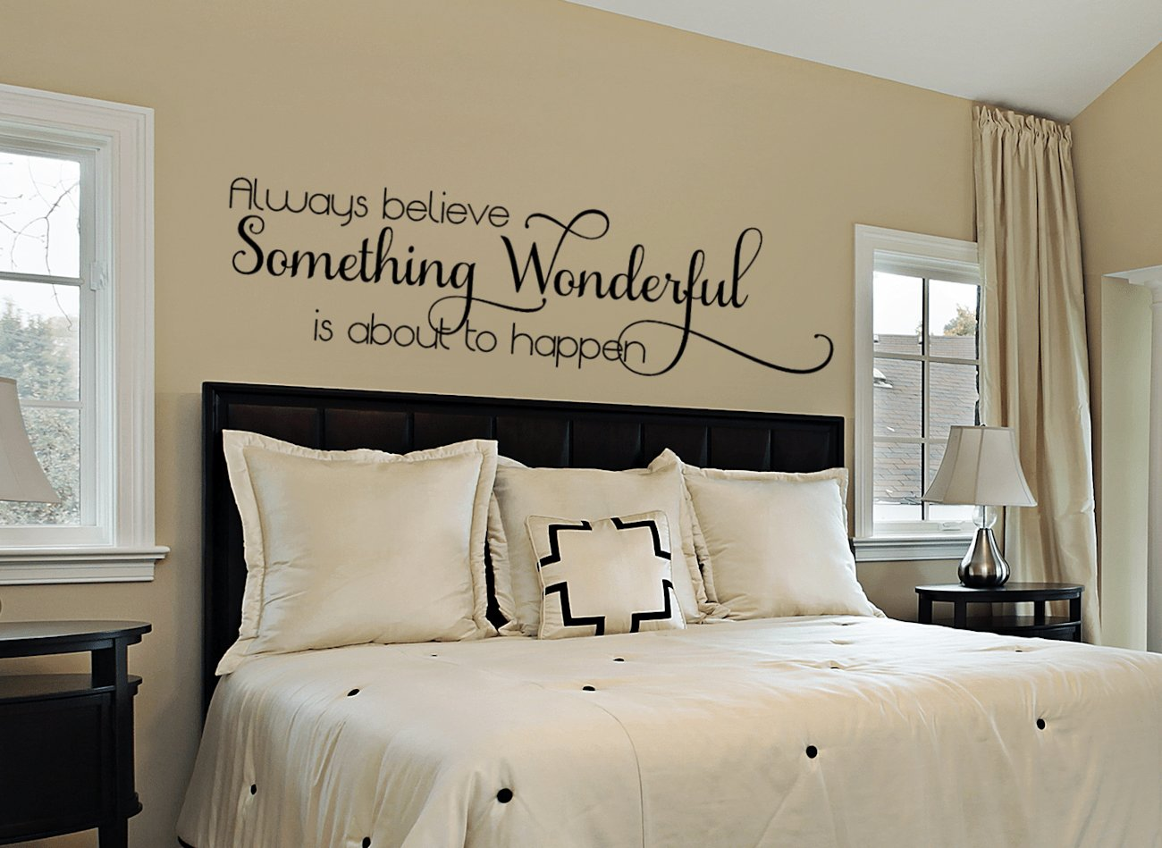 Best Something Wonderful Is About To Happen Inspirational Quote Wall Decals With Pictures