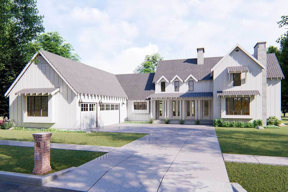 Best Modern 4 Bedroom Farmhouse Plan 62544Dj Architectural Designs House Plans With Pictures