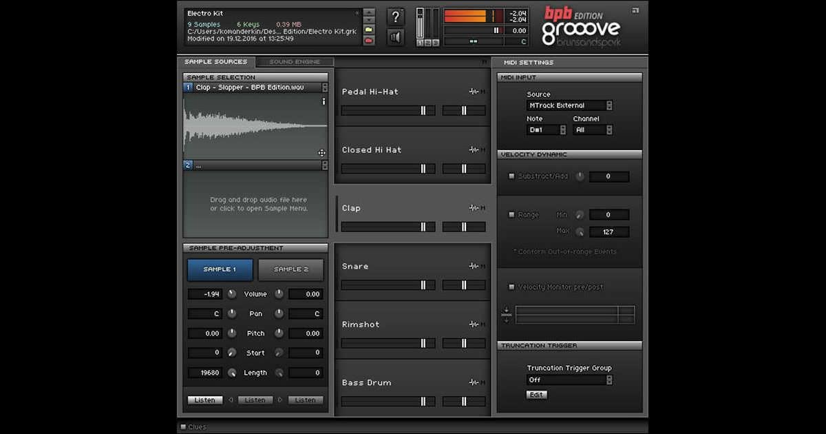 Best Bedroom Producers Blog、ドラム・サンプラー「Groove Bpb Edition」の無償配布を With Pictures