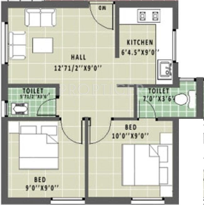 Best 600 Sq Ft 2 Bhk Floor Plan Image Annai Builders Real With Pictures