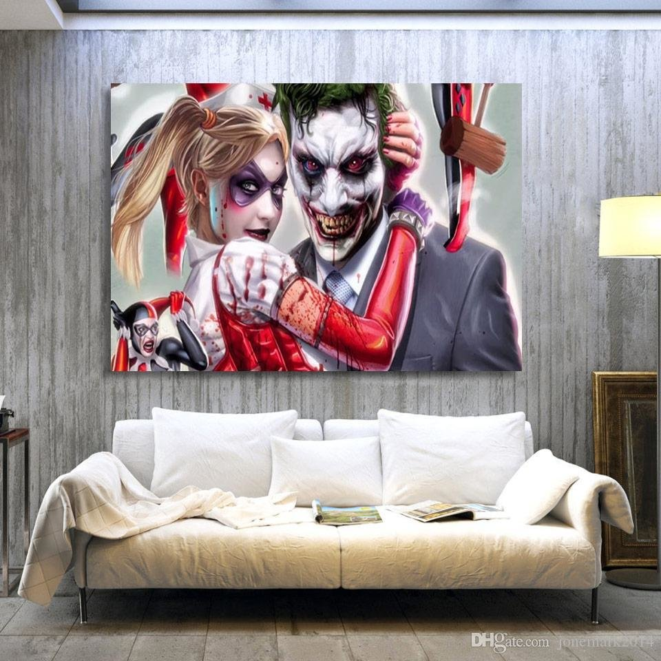Best 2018 Joker Harley Quinn Comics Wall Art Canvas Pictures With Pictures