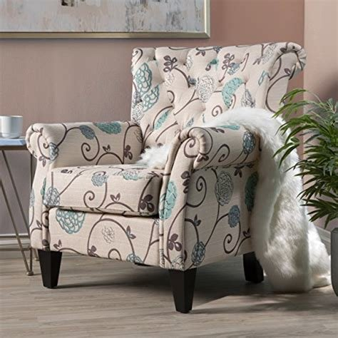 Best Amazon Com Accent Chairs With Arms For Living Room Bedroom Tufted Club Chair Deco Teal Floral With Pictures
