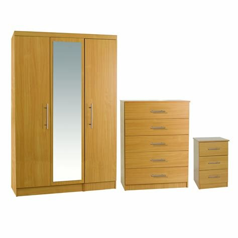 Best Beech Large Mirror Bedroom Set – Next Day Delivery Beech With Pictures