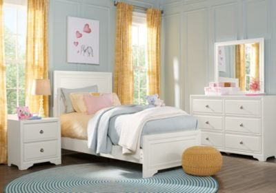 Best Belcourt Jr White 5 Pc Full Panel Bedroom T**N Bedroom With Pictures