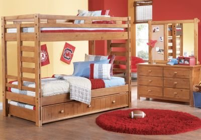 Best Creekside Taffy Twin Twin Bunk Bed Bunk Bedroom Sets With Pictures