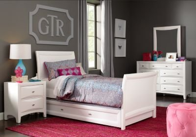 Best Ivy League White 5 Pc Twin Sleigh Bedroom T**N Bedroom Sets Colors With Pictures