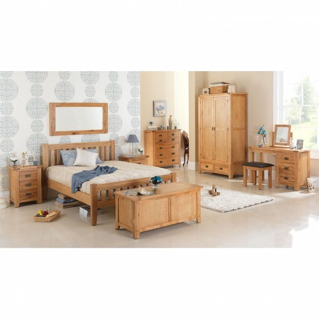 Best Monza Oak Bedroom Furniture 4 Over 3 Large Chest Of Drawers Ebay With Pictures