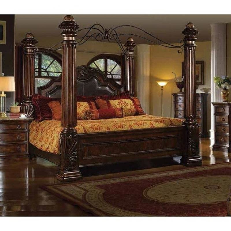 Best Rich Brown Solid Hardwood California King Bedroom Set 5Pcs With Pictures