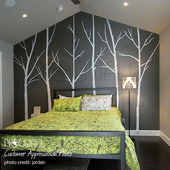 Best Winter Tree Wall Decal Bedroom Wall Decal Wall Sticker Vinyl With Pictures