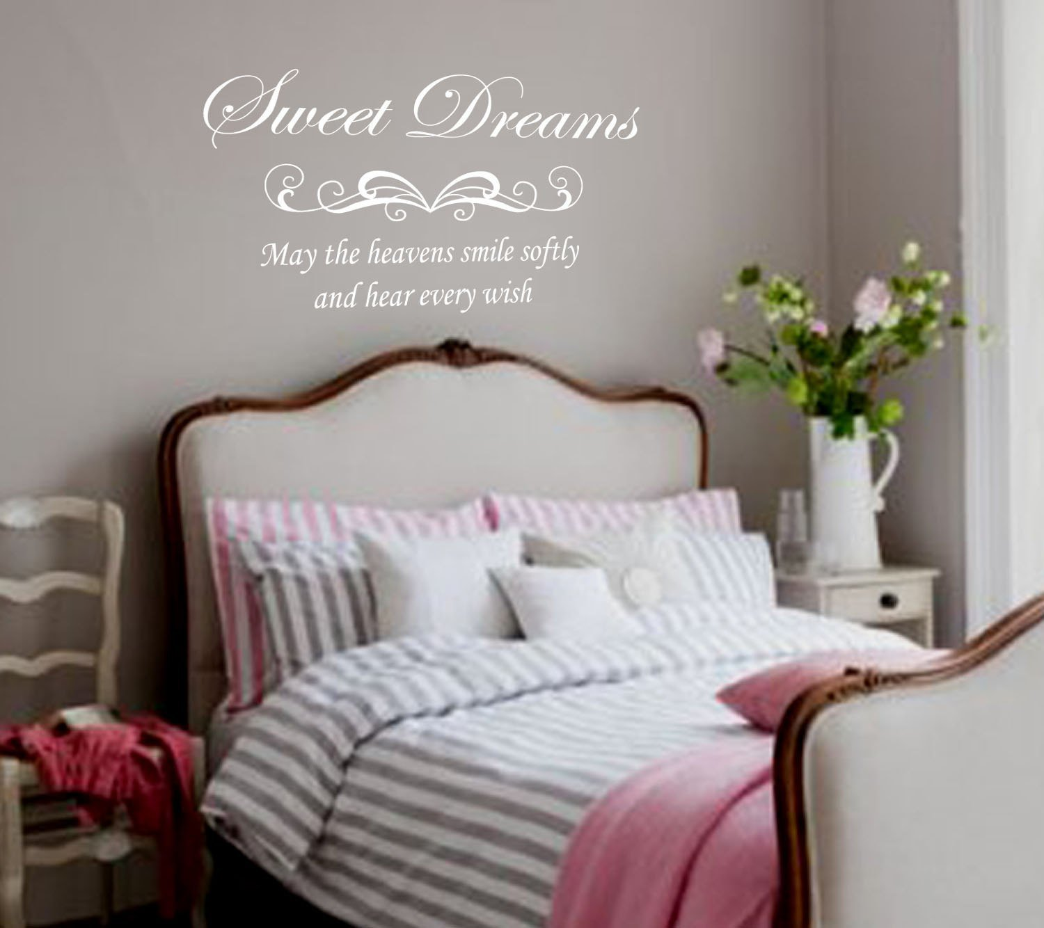 Best Bedroom Wall Decal Sweet Dreams Removable Vinyl Lettering With Pictures