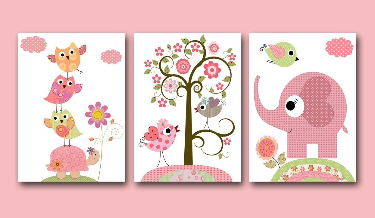 Best Baby Girl Nursery Print Baby Art Kids Wall Art Baby Girl Room With Pictures