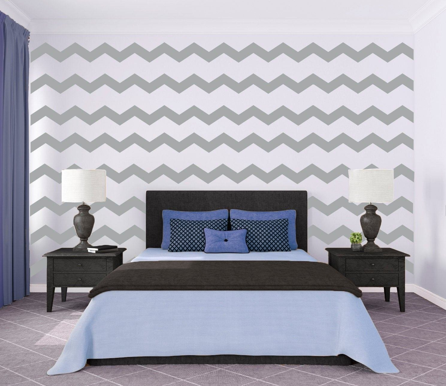 Best Chevron Wall Pattern Large Wall Decal Custom Vinyl Art With Pictures