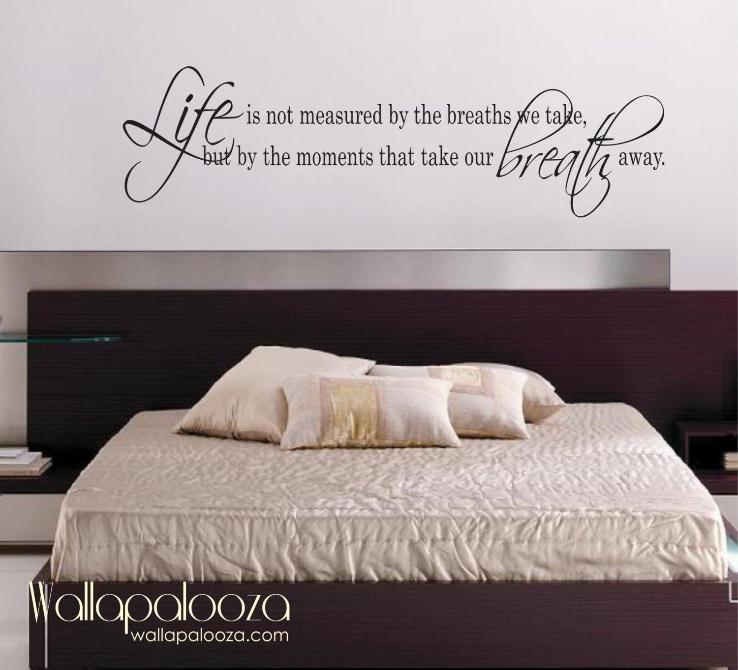 Best Life Is Not Measured Wall Decal Love Wall Decal Bedroom With Pictures