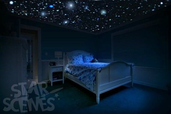 Best Glow In The Dark Stars Room Idea Diy Star Ceiling By Starscenes With Pictures