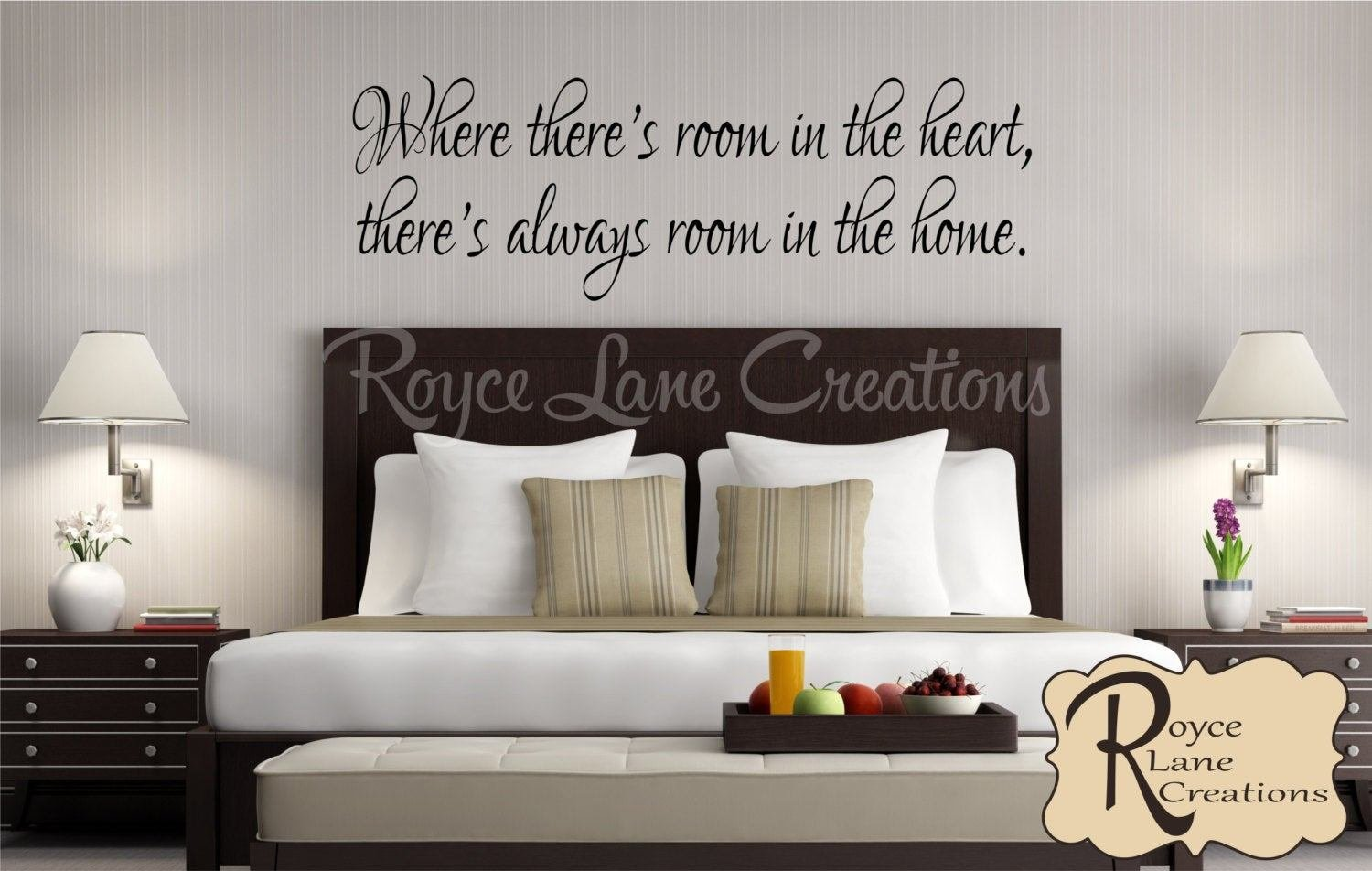 Best Guest Bedroom Wall Decal Where There S Room In The Heart With Pictures