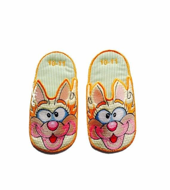 Best Kitty Bedroom Slippers Kids Slippers Novelty By Sewniqboutiq With Pictures